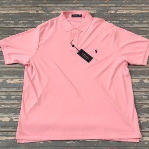 🔥 Polo By Ralph Lauren men's pink polo shirt NWT
